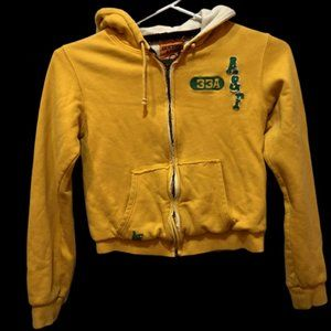 Abercrombie & Fitch Womens Large Yellow Zip Hoodie